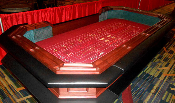 Florida casino party craps table