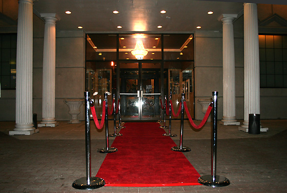 Stanchions with Red Velvet Rope Illinois